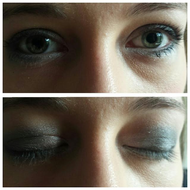 Grey smokey eyes makeup