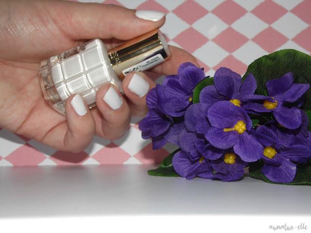 vernis blanc opaque et brillant