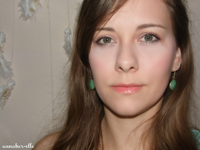 maquillage vert & mauve