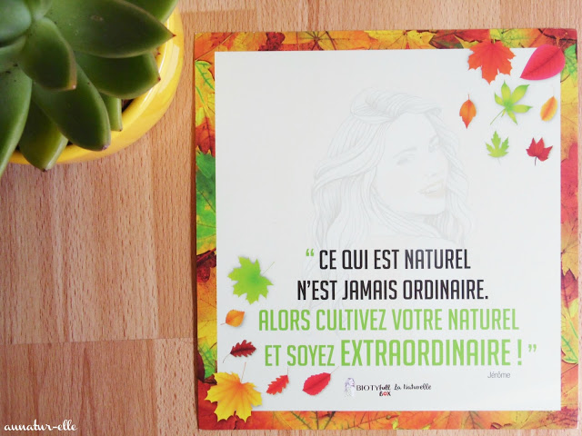 La Biotyfull box de Septembre : une box 100% naturelle
