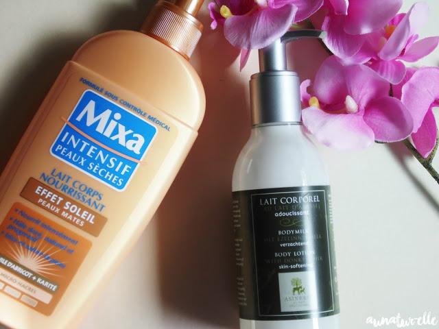 lait pour le corps effet soleil Mixa & lait d'ânesse