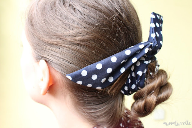 chignon pin-up avec headband