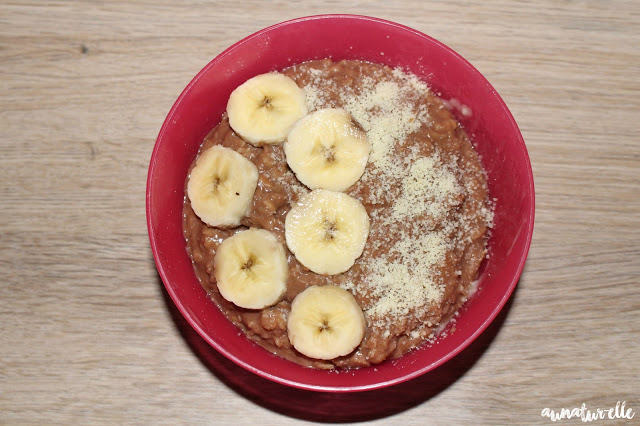 porridge chocolat banane healthy