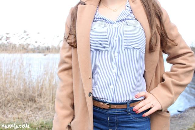 chemise rayée tendance