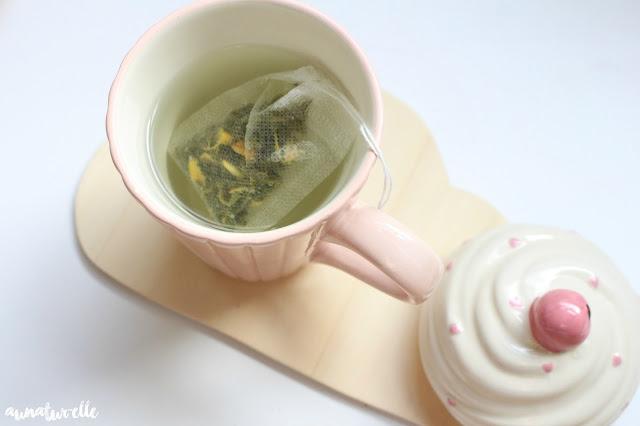 thé vert de saveur thé