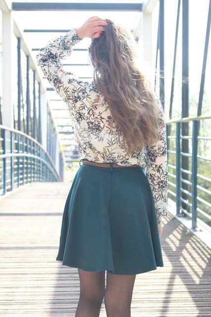 jupe verte trapèze