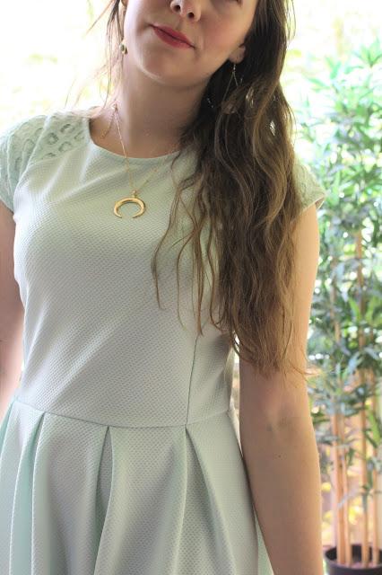 tenue de mariage, robe couleur mint