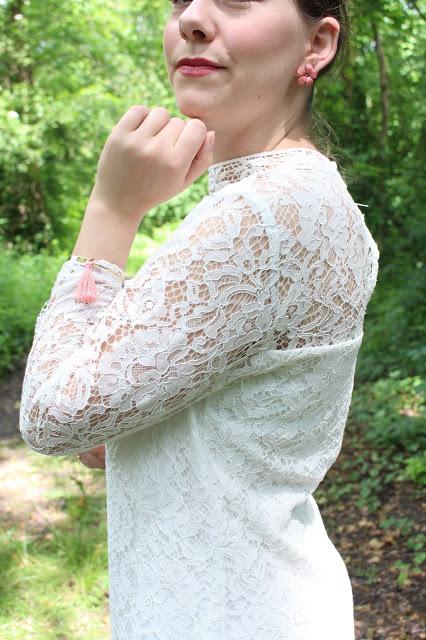 robe dentelle blanche promod