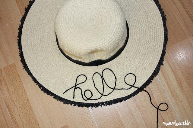 customiser chapeau pour l'été