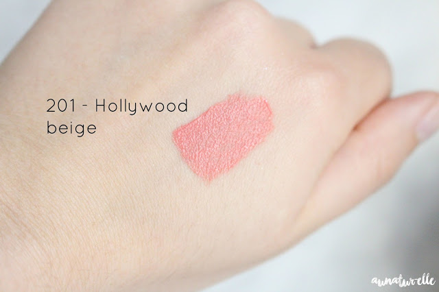 swatch lip paint matte l'oréal 201 hollywood beige