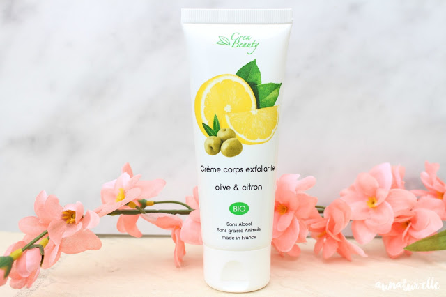 crème corps exfoliante olive et citron bio, crea beauty