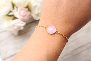 """bracelet doré """"pink stone"""""""