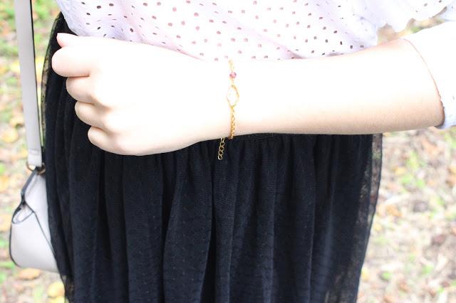 bracelet doré nuage