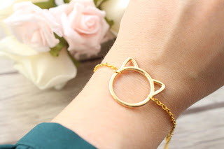 "bracelet doré ""cat"""