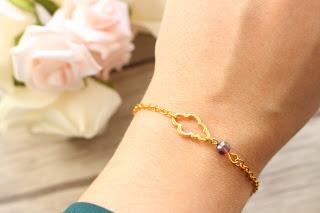 """bracelet doré """"nuage"""""""