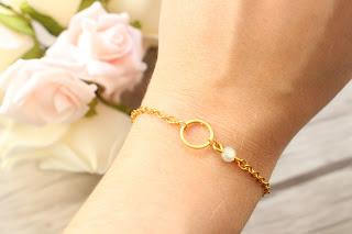 """bracelet doré """"white ring"""""""