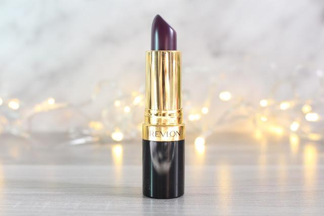 rouge à lèvres violet super lustrous revlon