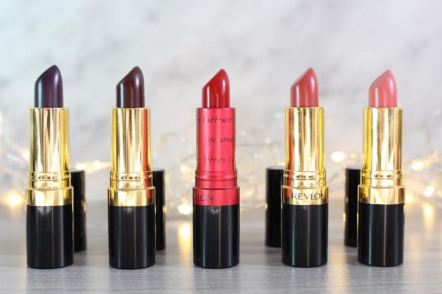 coffret de rouge à lèvres super lustrous Revlon