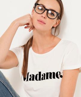 t-shirt madame camaïeu