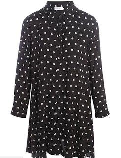 robe chemise imprimé polka dots