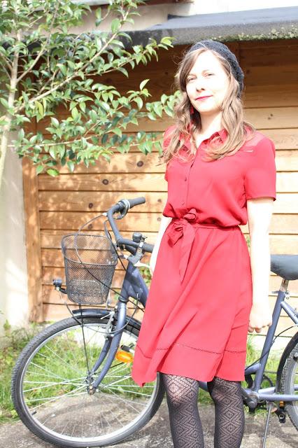 robe rouge camaieu