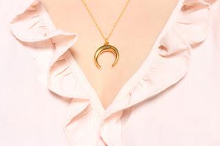 collier doré Luna - aunaturelle  créations