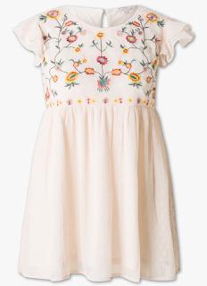 blouse rose pâle broderies c&a