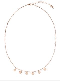 collier pendentif petits cercle or rose - aunatur-elle
