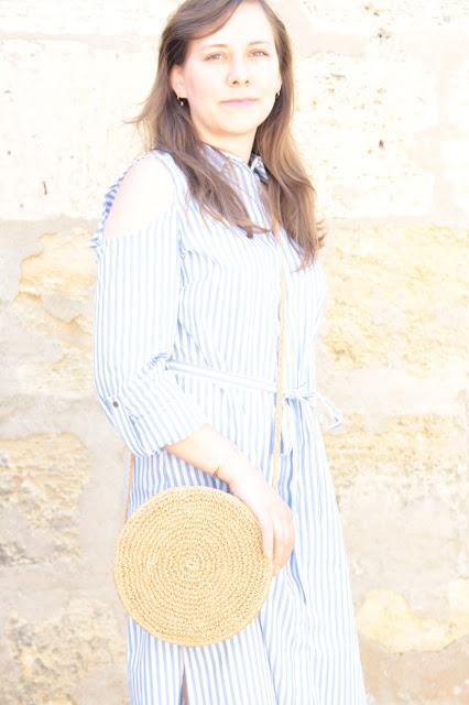 robe rayé bleu & blanche