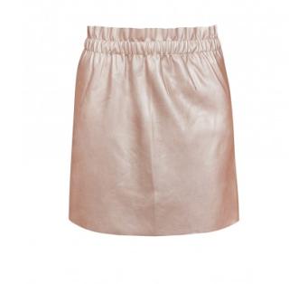 jupe simili cuir rose - teddy smith