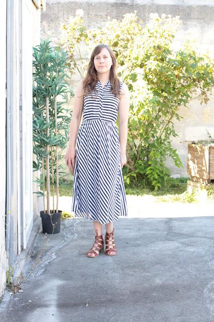 Ma robe longue rayée pour l'été