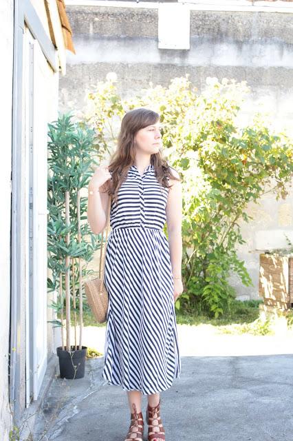 Ma robe longue rayée