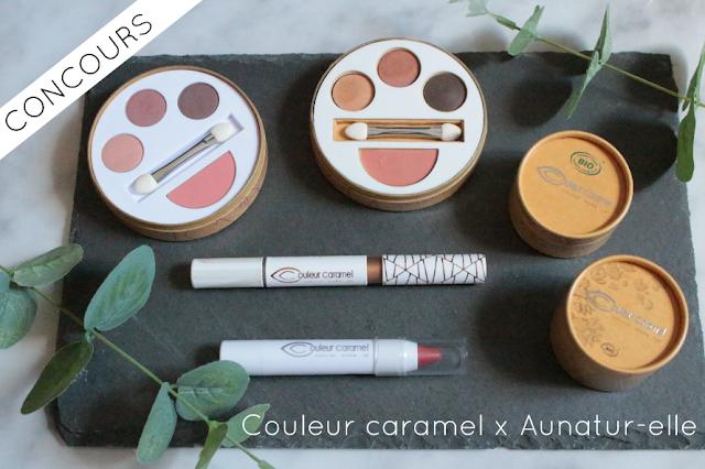 concours maquillage bio couleur caramel