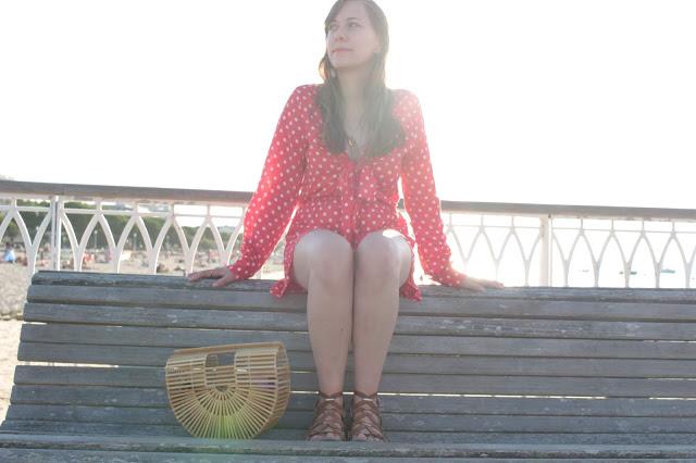 Ma combishort rouge Modeinelo