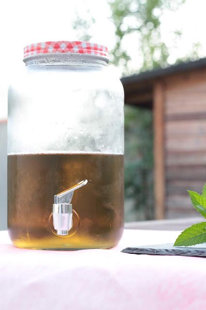 recette de thé glacé maison à la menthe