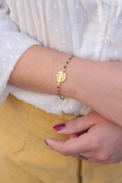bracelet black monstera  aunaturelle  créations