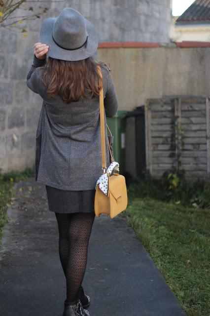 chapeau gris femme automne