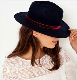 chapeau femme velours camaieu