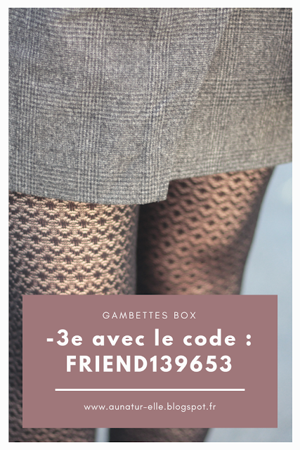 code promo gambettes box, box de collants