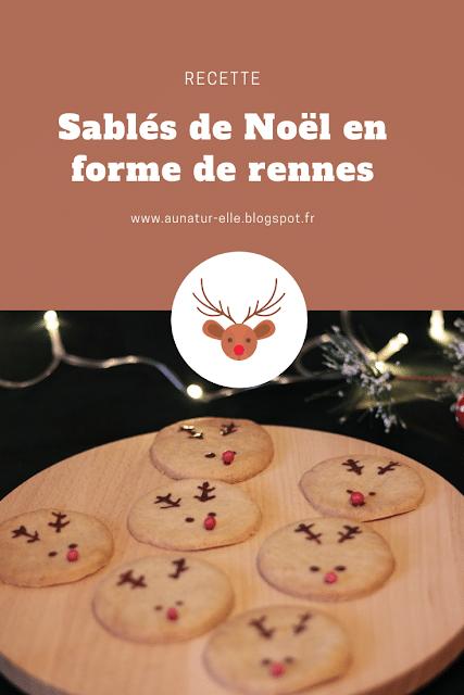 recette des sablés rennes pour Noël
