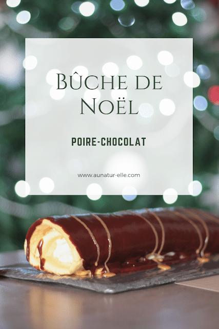 Recette : Bûche de Noël, poire - chocolat