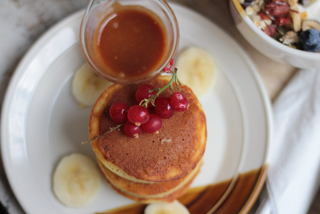 Brunch Contrast Bordeaux, pancakes au caramel - Aunatur-elle, blogueuse bordelaise
