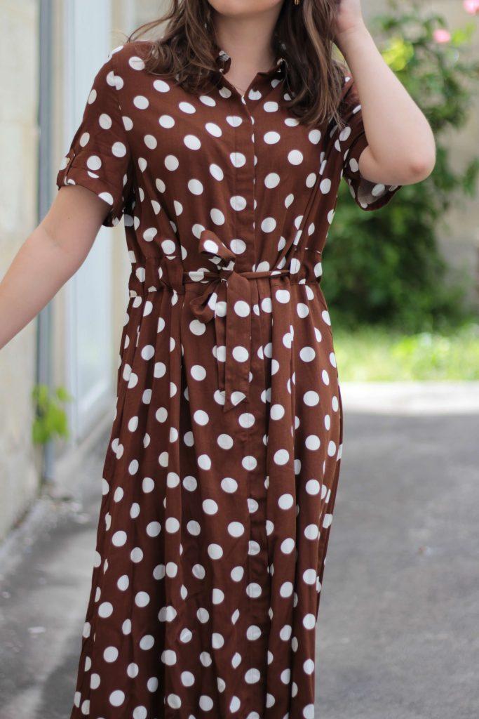 Ma robe longue à pois