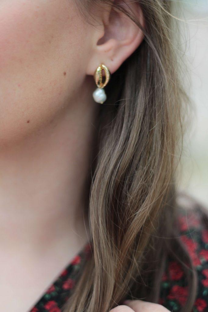 Boucles d'oreilles dorées coquillage - Aunatur-elle