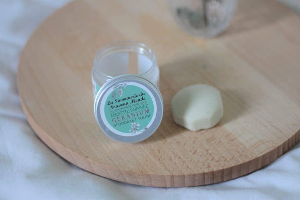 Déodorant solide la savonnerie du nouveau monde, comment l'utiliser. Aunatur-elle, blogueuse beauté naturelle et bio