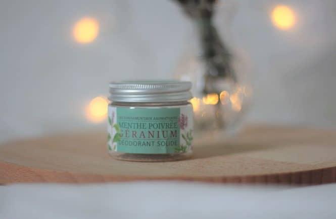 Déodorant solide naturel à la menthe poivrée, la savonnerie du nouveau monde. Aunatur-elle, blogueuse beauté naturelle et bio
