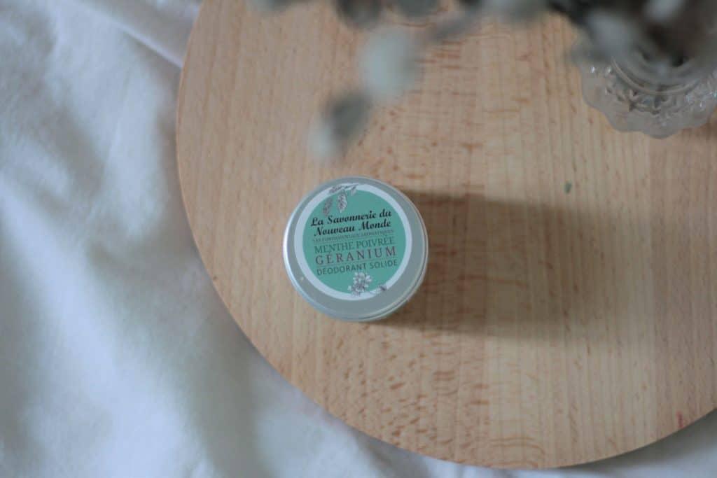 Que vaut le déodorant solide naturel la savonnerie du nouveau monde, Aunatur-elle, blogueuse beauté naturelle