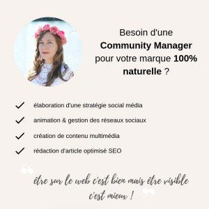 Besoin d'une Community Manager pour votre marque 100% naturelle _
