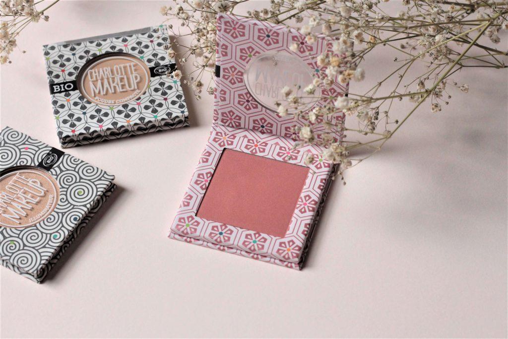 Blush bois de rose de Charlotte makeup BIO. Aunatur-elle, blog beauté bio