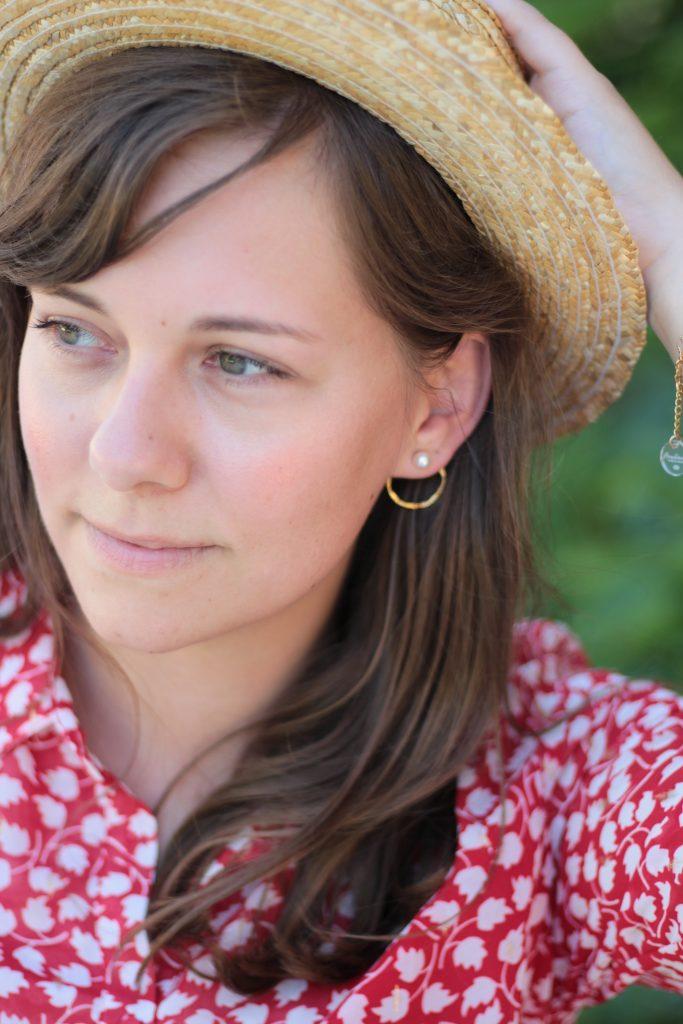 Boucles d'oreilles en laiton dorées à l'or fin 24k - Aunaturelle créations, créatrice de bijoux bordelaise